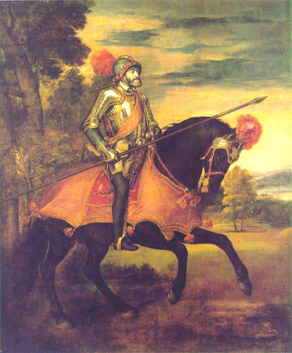 Carlos I de España y V de Alemania pintado por Tiziano Veccelio