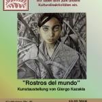 """El arte de Giorgos Kazakis """"Rostros del mundo"""""""